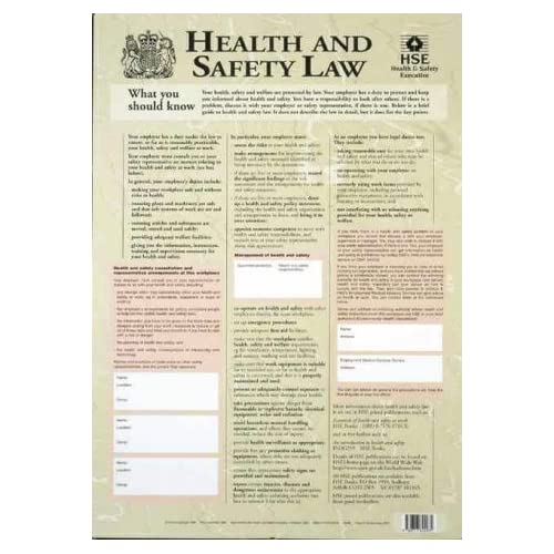 Health Medical Law: Health And Safety Law Poster (Hse Law Poster): Amazon.co