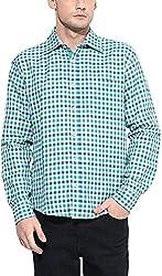 Y.U.V.I. Men's Linen Regular Fit Casual Shirt (11113046-XL, Multi-Coloured, X-Large)