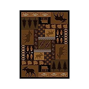 Rustic Home Cabin Large Area Rug Stain