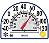 Springfield 91157 Window Cling Thermometer -Clings to Window without bracket or glue in Seasons Design