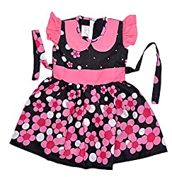 KILKARI PETER PAN COLLARED FROCKBLACK2 - 3 YRS