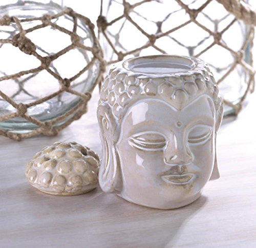 Aromatherapy Hot Oil Warmer Buddha Statue Sculpture Tealight Candle Massage Asian Style Oil Warmers Holder Essential Fragrance Scented (Hot Oil Warmer compare prices)