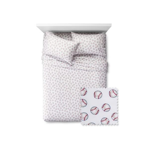 Pillowfort-Baseball-Twin-Sheet-Set