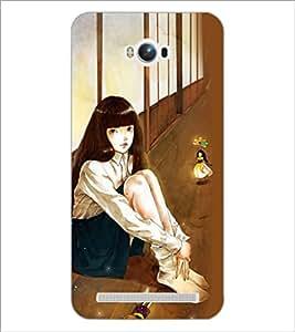 PrintDhaba Fantasy Girl D-6037 Back Case Cover for ASUS ZENFONE MAX ZC550KL (Multi-Coloured)