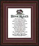 Home Rules - Framed Inspirational Framed Gift with Double Beveled Mat