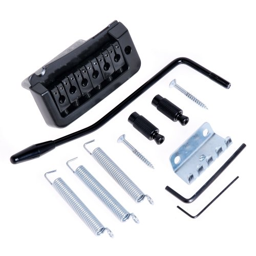 1set BT-01 Black Tremolo Bridge with Whammy Bar Set for 6 String Guitar