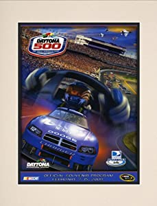 NASCAR Matted 10.5 x 14 Daytona 500 Program Print Race Year: 51st Annual - 2009 by Mounted Memories