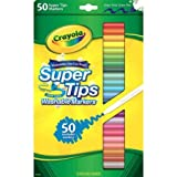 Crayola Washable Super Tips Fine Line Markers with 12 Silly Scents Markers,58-5050, 50pk