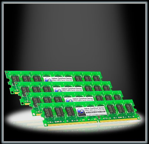 Quantum Technology Certified Spec 16GB 4GBx4 DDR3 PC3-8500 1066MHz ECC REG RAM Celebration DIMM Kit for Dell Precision R5500 Rack Workstation