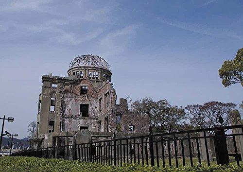 安永新一のポスター 平和のともしび、いつまでも 原爆ドーム  広島県 写真 風景 インテリア 耐水 パシャデリック P-A1-PS-YSG-u5wbzu