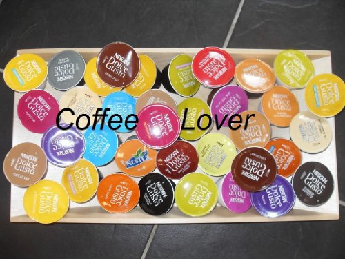 Nescafe Dolce Gusto Coffee Pods Capsules Complete Collection 32 Flavours - 44 Pods from Nescafe Dolce Gusto