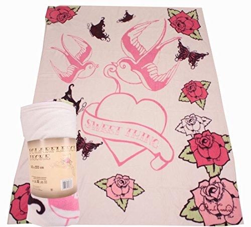childrens-soft-fleece-blanket-sweet-thing-for-girls-white-pink-150x200-cm