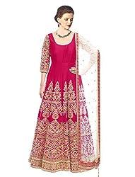 Liza Fab Women's Pink Bangalore Straight Unstitched Lehenga Cholis