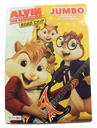 """Alvin and the Chipmunks Jumbo Educational Coloring and Activity Book ~ The Road Chip! (96 Pages; 7.75"""" x 10.75"""")"""