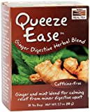Now Foods, Real Tea, Queeze Ease, Ginger Digestive Herbal Blend, Caffeine Free, 24 Tea Bags, 1.7 oz (48 g)