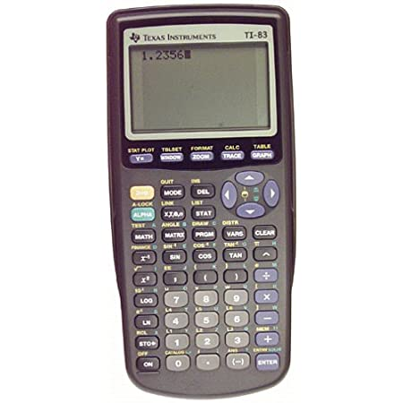 Perhaps if we'd had this calculator in high school we would have done much better in trigonometry. The Texas Instruments TI-83 is an ideal unit for any math student, combining powerful features for graphing and statistical analysis. The LCD screen di...