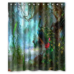 Innovation waterproof polyester fabric for Fantasy shower curtains