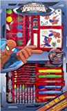DINSEY CHARACTER CHILDRENS KIDS PAINTING DRAWING COLOURING STATIONERY SET 52PC SPIDERMAN