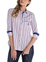 SIR RAYMOND TAILOR Camisa Mujer (Blanco / Azul / Rojo)