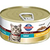 Hill&#039;s Science Diet Adult Indoor Cat Savory Chicken Entree Minced Cat Food, 5.5-Ounce Can, 24-Pack
