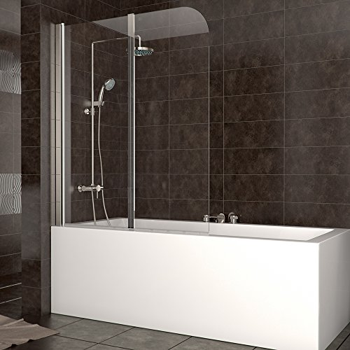 duschabtrennung badewanne duschwand badewannenfaltwand glas dusche din links. Black Bedroom Furniture Sets. Home Design Ideas