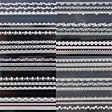 20pcs dentelle creative Nail bande autocollants « Yama Girls » 4 ongles enacrylique Nail Art decoration 166 K