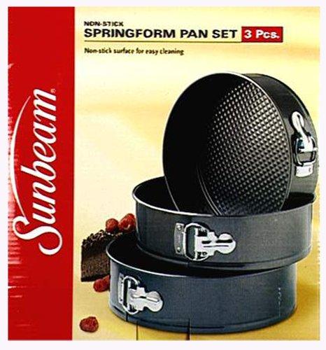 Sunbeam 3-Piece Nonstick Springform Pan Set