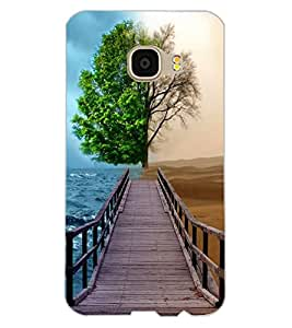 ColourCraft Illusion Design Back Case Cover for SAMSUNG GALAXY C5