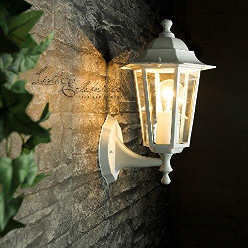 Auenlampe-Wandleuchte-Paris-in-matt-weigrau-stehend-Gartenlaterne-Auenleu