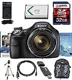 Sony Cyber-Shot DSC-H400 H400 DSCH400/B DSCH400B H400 Digital Camera (Black) + Full Size Tripod, Backpack, 32GB Deluxe Accesory Kit