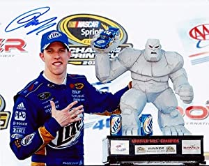 Buy AUTOGRAPHED 2012 Brad Keselowski #2 Miller Lite Racing DOVER WIN (Monster Mile Trophy) SIGNED NASCAR 8X10 Glossy Photo w... by Trackside Autographs