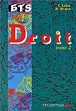 echange, troc Lobry - Droit bts tome 2