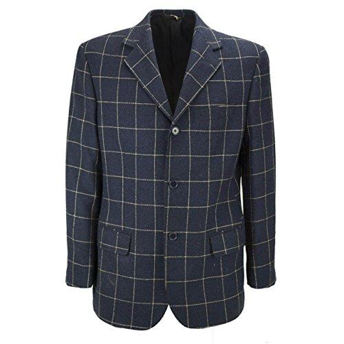 giacca-uomo-48-m-tessuto-lana-loro-piana-blu-scuro-fantasia-a-quadri-tommaso-deste
