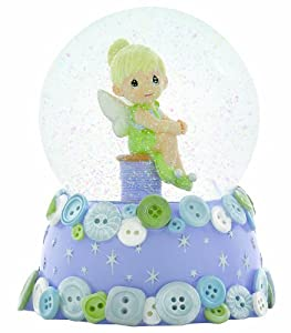 Precious Moments Disney Girl As Tinker bell 100mm Musical Water Globe, Tune: Fur Elise by Precious Moments