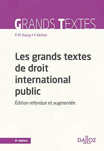 Les grands textes de droit international public - 9e éd.