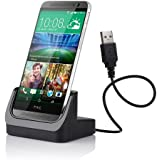 VicTsing® Desktop USB Data Sync Charging Docking Station Cradle Charger Adapter Holder Mount For HTC ONE M8 Black