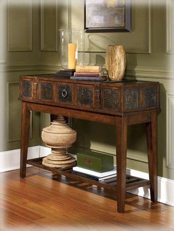 McKenna Dark Brown Rustic Sofa Table