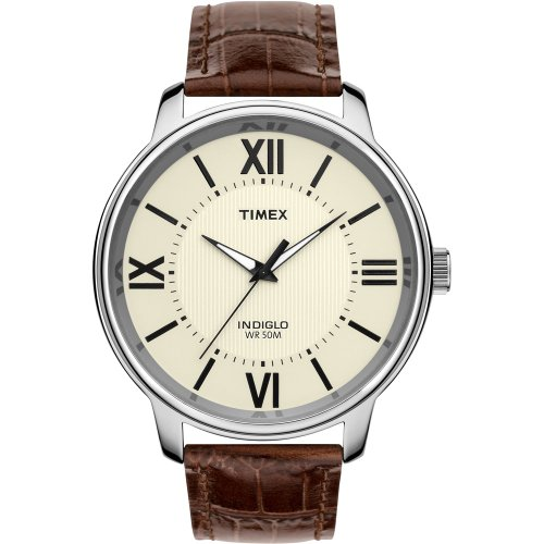 Timex Classics Dress Off-white Dial Men's watch #T2N692