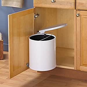 Swing out trash can waste bin 12l automatic for Automatic kitchen cabinets