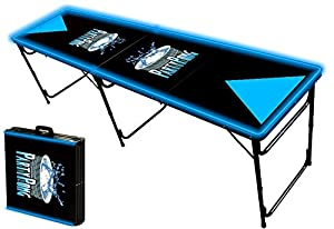 8-Foot Professional Beer Pong Table w/ Glow Lights - Party Pong Logo