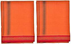 Indhirani Mens Cotton Thalapathy Dhoti-KV- Pack Of 2