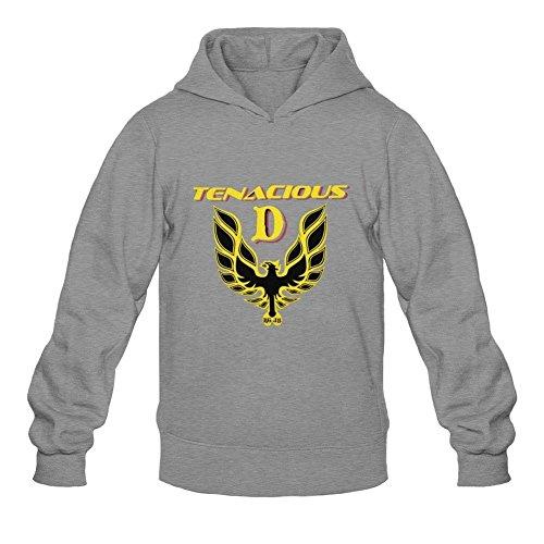 XIULUAN Men's Tenacious D Logo Hoodie XL Dark Grey (Tenacious D The Last In Line compare prices)