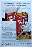 img - for 1932 Original Color Quaker Puffed Wheat AD book / textbook / text book