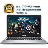"""Newest ASUS Premium 15.6"""" Full HD 1080 Laptop Intel Core I7-5500U, 12GB RAM, 1TB HDD, DVD,Windows 10"""