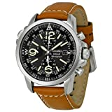 Seiko Solar Chronograph Compass Black Dial Mens Watch SSC081