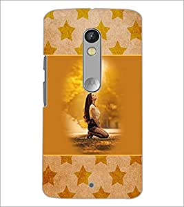 PrintDhaba Fantasy Girl D-5709 Back Case Cover for MOTOROLA MOTO X PLAY (Multi-Coloured)