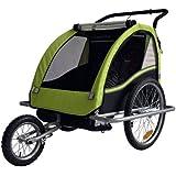 Convertible Jogger Remorque à Vélo 2 en 1, pour enfants - coleur: LEMON/noir 602-D02