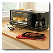 Brylanehome Toaster Oven, Griddle & Coffee Maker Combo