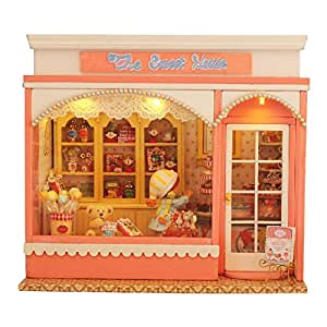Amazon.com: Rylai Wooden Handmade Dollhouse Miniature DIY Kit - The