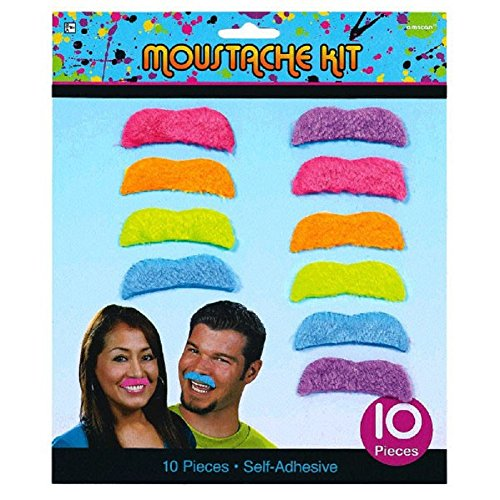 Totally 80's Mustaches 10ct - 1